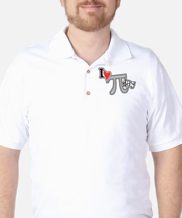 I heart (love) Pi Day Golf Shirt