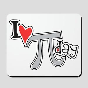 I heart (love) Pi Day Mousepad