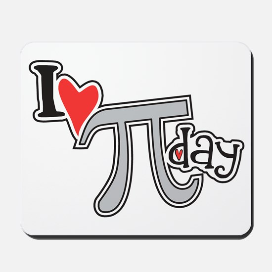 I heart (love) Pi Day Mousepad