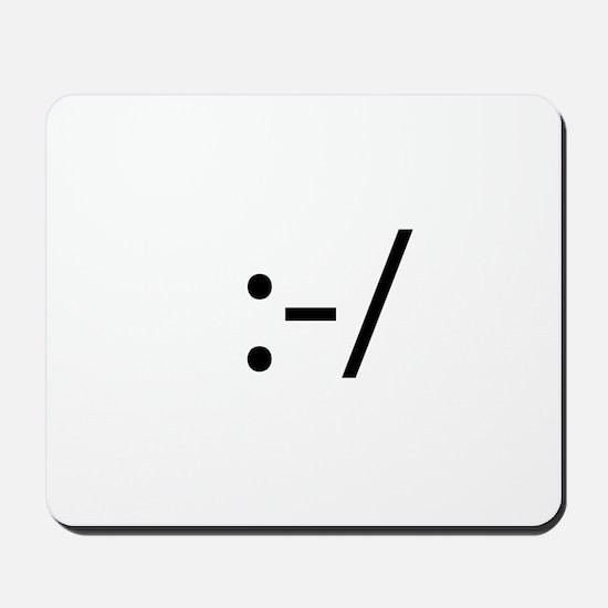 Skeptical Smilie Mousepad