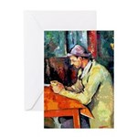 Jazz Singer on Abstract Greeting Card