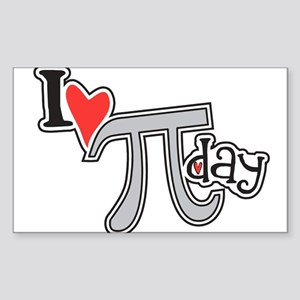 I heart (love) Pi Day Sticker (Rectangle 10 pk)