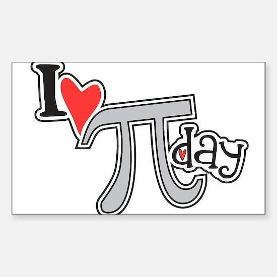 I heart (love) Pi Day Sticker (Rectangle 10 pk)