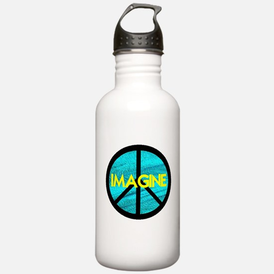 IMAGINE with PEACE SYMBOL Water Bottle