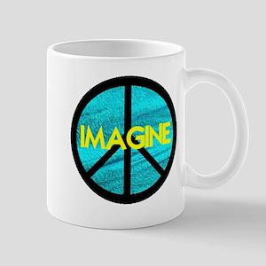 IMAGINE with PEACE SYMBOL Mug