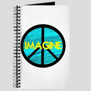 IMAGINE with PEACE SYMBOL Journal