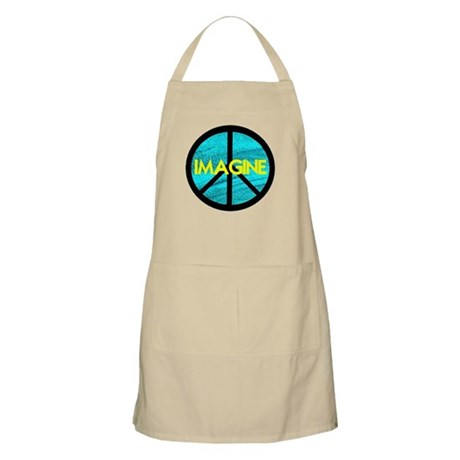 IMAGINE with PEACE SYMBOL Apron