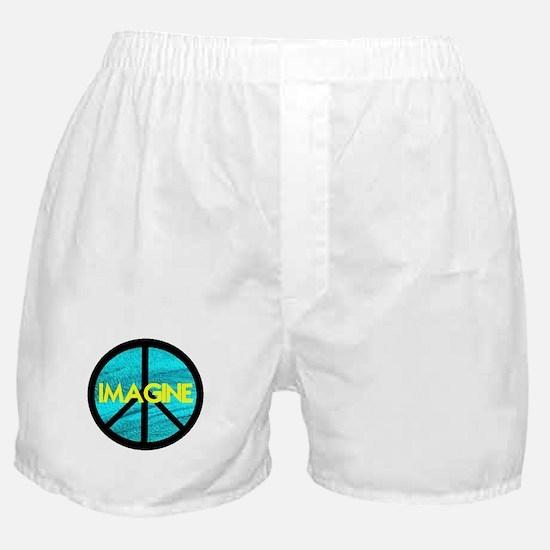 IMAGINE with PEACE SYMBOL Boxer Shorts