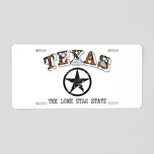 Lone Star State Aluminum License Plate