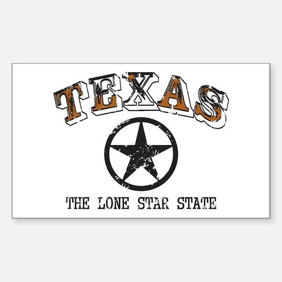 Lone Star State Sticker (Rectangle)