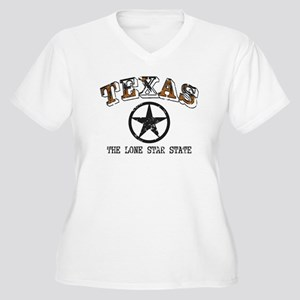 Lone Star State Women's Plus Size V-Neck T-Shirt