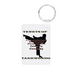 TAEKWONDO Tenets Key Chain