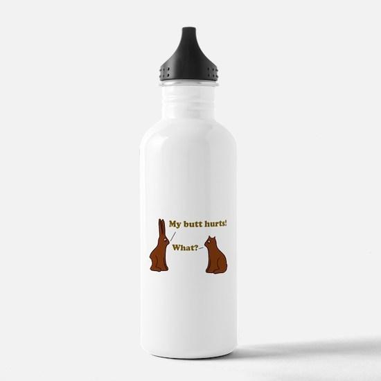 Chocolate Bunnies My Butt Hur Water Bottle