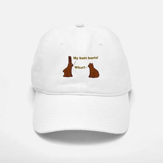 Chocolate Bunnies My Butt Hur Baseball Baseball Cap