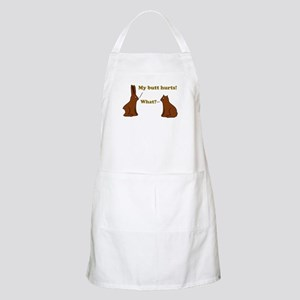 Chocolate Bunnies My Butt Hur Apron