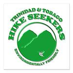 Hike Seekers Green Logo Square Car Magnet 3