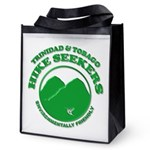 Hike Seekers Green Logo Reusable Grocery Tote Bag