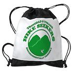 Hike Seekers Green Logo Drawstring Bag