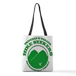Hike Seekers Green Logo Polyester Tote Bag