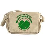 Hike Seekers Green Logo Messenger Bag