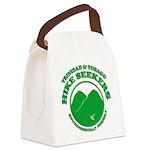 Hike Seekers Green Logo Canvas Lunch Bag