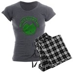 Hike Seekers Green Logo Women's Charcoal Pajamas