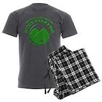 Hike Seekers Green Logo Men's Charcoal Pajamas