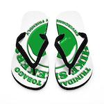 Hike Seekers Green Logo Flip Flops