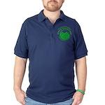 Hike Seekers Green Logo Dark Polo Shirt