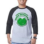 Hike Seekers Green Logo Mens Baseball Tee