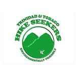 Hike Seekers White Logo 5x7 Flat Cards (Set of 20)