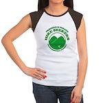 Hike Seekers White Logo Junior's Cap Sleeve T-Shir