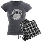 Hike Seekers White Logo Women's Charcoal Pajamas