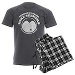 Hike Seekers White Logo Men's Charcoal Pajamas