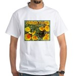 California Poppy T-shirt--white