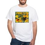 California Poppy T-shirt--white