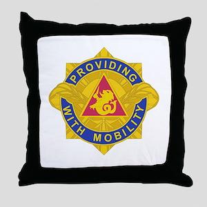DUI - 57th Transportation Bn Throw Pillow