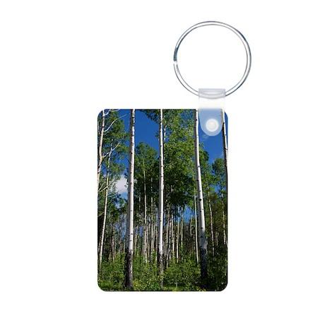 Mountain Trees Aluminum Photo Keychain