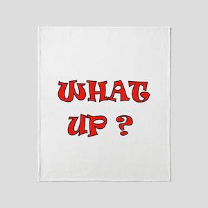 WHAZZUP Throw Blanket