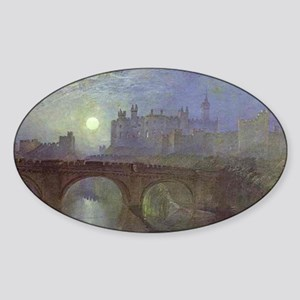 Alnwick Castle Sticker (Oval)