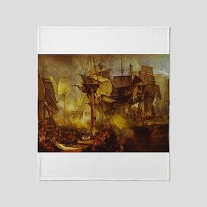 Battle of Trafalgar 1808 Throw Blanket