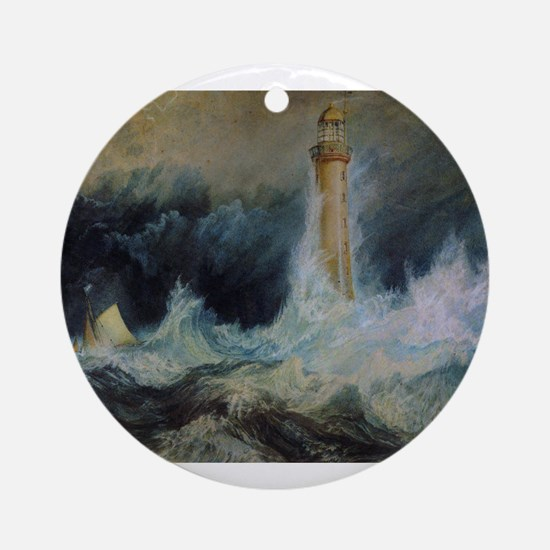 Bell Rock Lighthouse Ornament (Round)