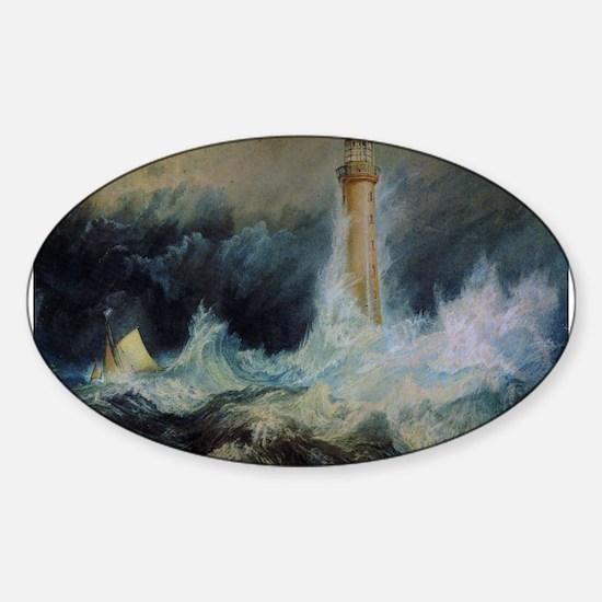 Bell Rock Lighthouse Sticker (Oval)