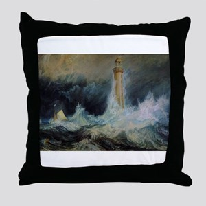 Bell Rock Lighthouse Throw Pillow
