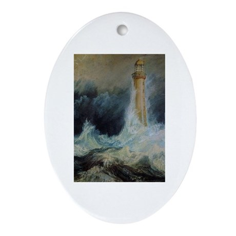 Bell Rock Lighthouse Ornament (Oval)