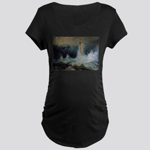Bell Rock Lighthouse Maternity Dark T-Shirt