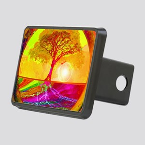Gold Sunlight Tree of Life Rectangular Hitch Cover