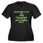 Bisexuals Women's Plus Size V-Neck Dark T-Shirt
