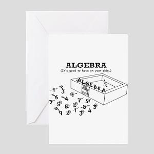 ALGEBRA GOOD ON YOUR SIDE Greeting Card