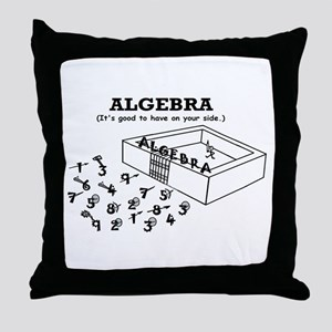 ALGEBRA GOOD ON YOUR SIDE Throw Pillow